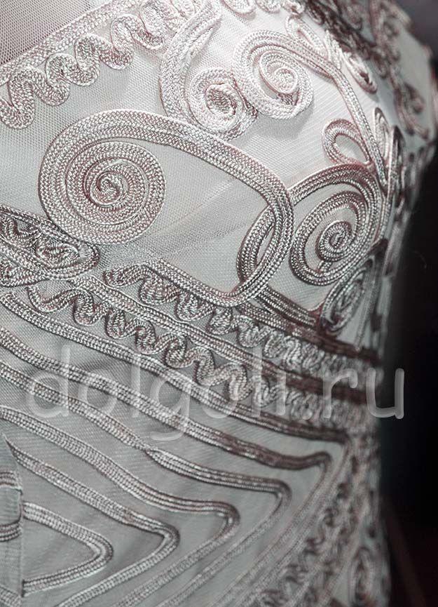 декор платья сутажем