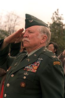 """Valor awards for COL (then CPT) Lewis Lee """"Red"""" Millett (1920-2009) US Army. Medal of Honor for action in Soam-ni, Korea, on 7 February 1951. Colonel Millett served over 30 years, in 3 wars. In addition to the Medal of Honor he was awarded the Distinguished Service Cross, Silver Star, Legion of Merit with Oak Leaf Cluster, Bronze Star with """"V"""" Device and two Oak Leaf Clusters, Purple Heart with three Oak Leaf Clusters, Air Medal with """"V"""" Device and Oak Leaf Cluster."""