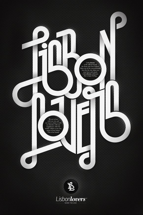 'Lisbonlovers™,' by André Beato #typography