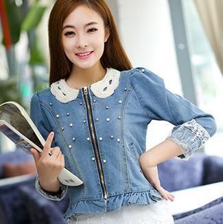 Resultado de imagen para chaquetas cortas para mujer de jean