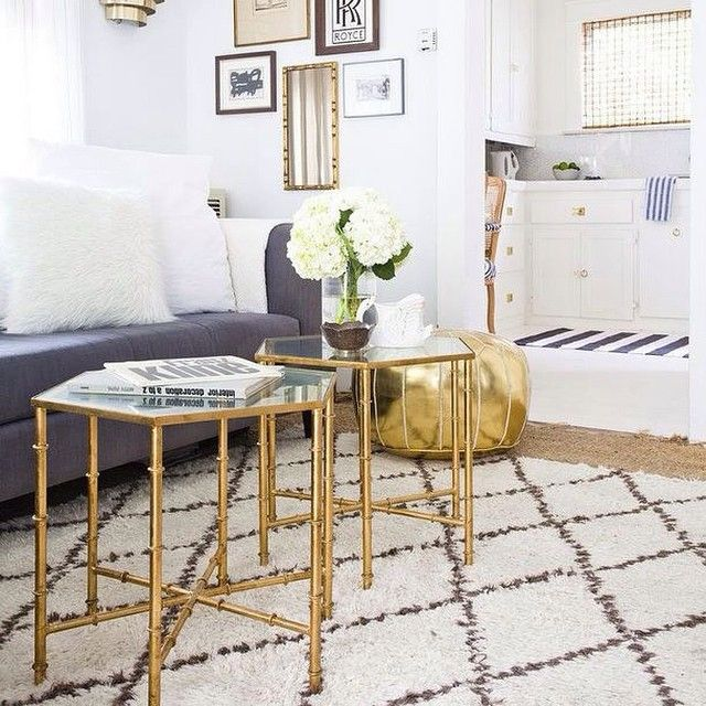 Nice We Love The Way Our Kerri Gold Mirror Top Accent Tables Look In This Space! Gallery