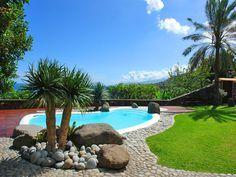 Pool der Ferienfinca mit Ferienhaus und Pool in Los Realejos auf Teneriffa.