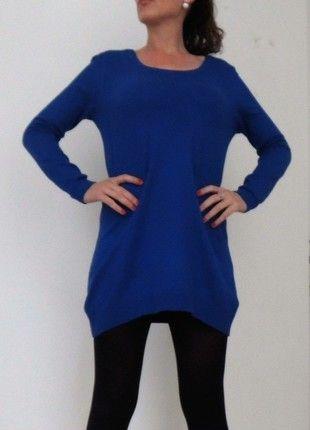 A vendre sur #vintedfrance ! http://www.vinted.fr/mode-femmes/autres-pull-overs-and-sweat-shirts/19318440-robe-pull-bleu-electrique