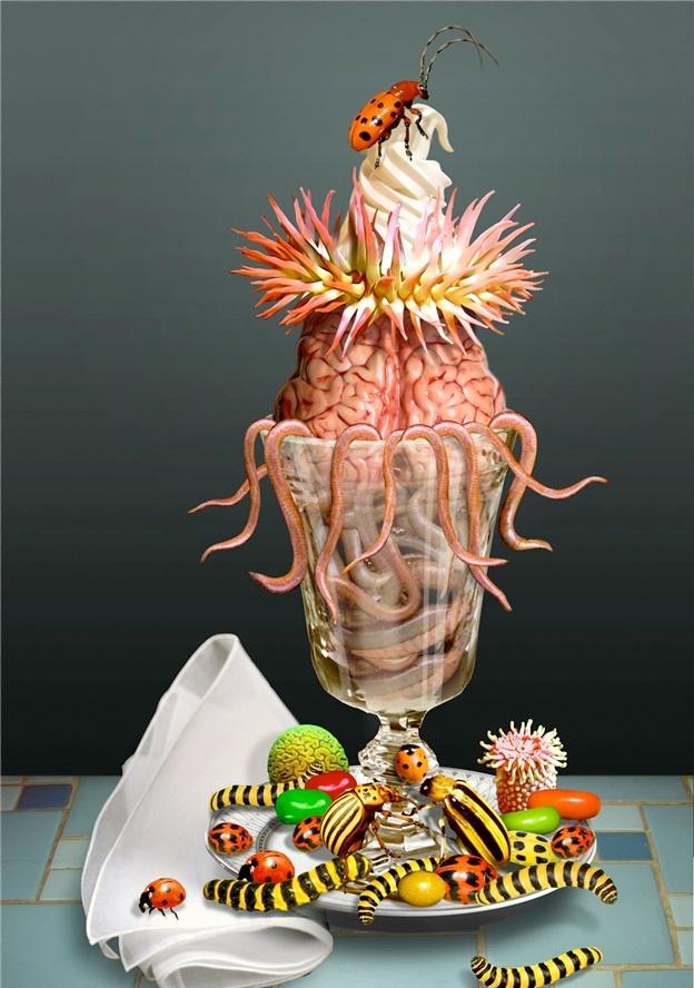 #food #fudge #sprinkles #graphic #digital