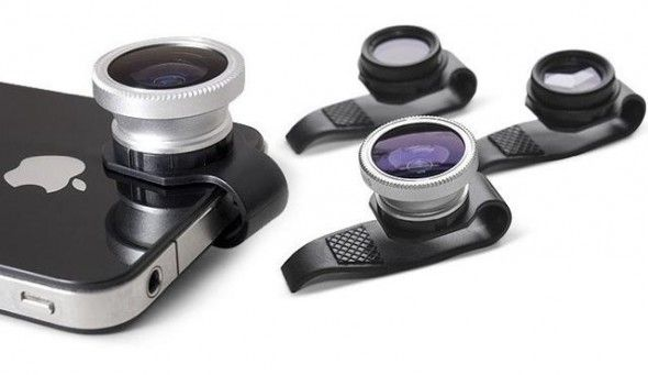 Clip-on lenses for iPhone