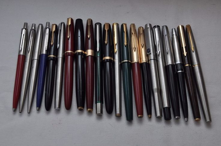 Lot of 21 x Vintage Parker Fountain Pens & Ballpoint Pens For Spares or Repairs  | eBay