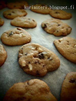 """""""I made Cookie dough!"""": Keksejä suklaamuruilla ja cashewpähkinällä » Korianteri"""