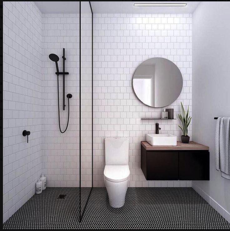 tiles / black shower