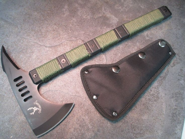 "14 5"" Survival Tomahawk Combat Throwing Hatchet Hunting Zombie Axe 6184 ZIX1 