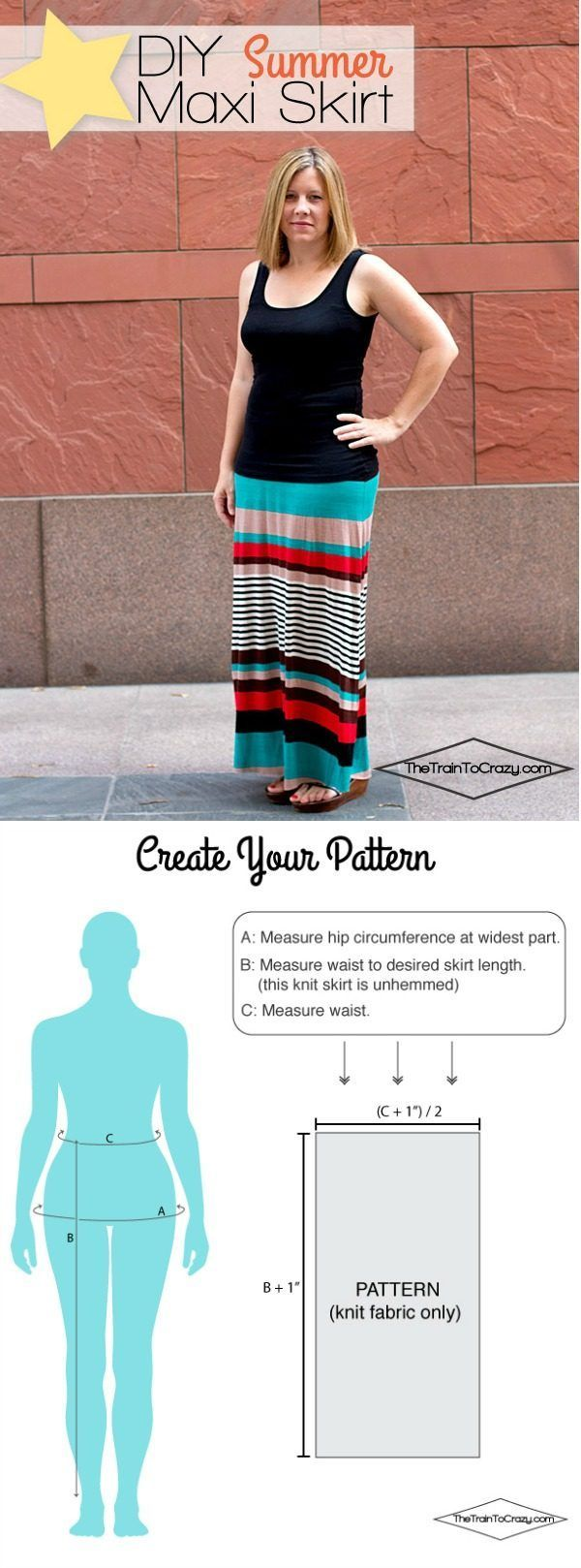 How to Make a Maxi Skirt | Follow this tutorial to make your own pattern to fit your body. This sewing tutorial is easy to follow. See more on http://TodaysCreativeLife.com
