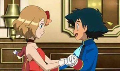 pokemon ash and serena dance - Google Search