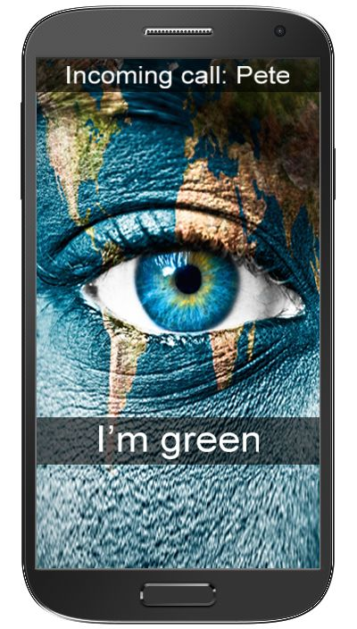 Im green...and you! Blue :)