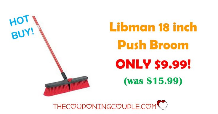 HOT BUY! Get the Libman 18 inch Push Broom for ONLY $9.99 (was $15.99)! Push brooms are great for garages, shops and even camping!  Click the link below to get all of the details ► http://www.thecouponingcouple.com/libman-18-inch-push-broom/ #Coupons #Couponing #CouponCommunity  Visit us at http://www.thecouponingcouple.com for more great posts!