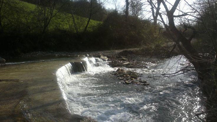 Ovviamente non sono stata così temeraria da attraversare la cascata per andare dall'altra parte