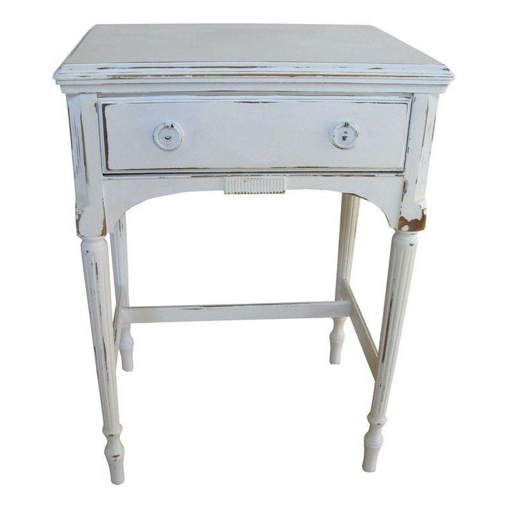 Shabby Prairie White Entry Table or Nightstand - $300 Est. Retail - $250 on Chairish.com