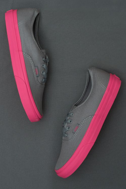 84d684af6619 On Wednesdays we wear pink (soles). Pop Outsole Authentics are so fetch.