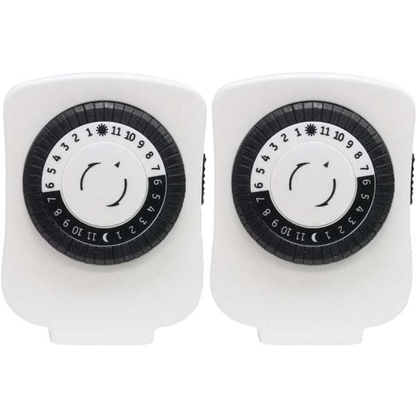 GE(R) 15417 24-Hour Polarized Plug-in Mechanical Timer with 48 On ...
