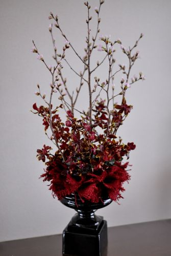 Corporate flowers, burlap