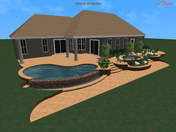 30 best 3d designs images on pinterest 3d drawings for Swimming pool 3d design