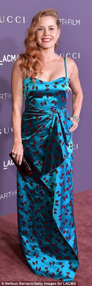 Salma Hayek gorgeous in Gucci gown at LACMA event | Daily Mail Online