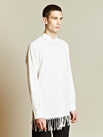 Ann demeulemeester men 39 s joan fringe shirt s s12 for Mens shirt with tassels