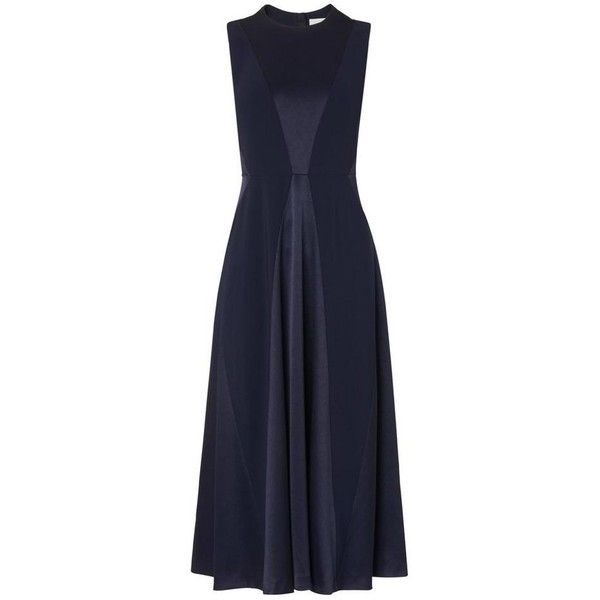 Babette Navy Dress | Clothing | L.K.Bennett (€335) ❤ liked on Polyvore featuring dresses, navy blue dress and navy dresses