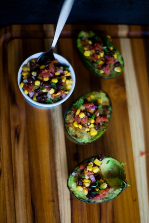 Grilled Avocados with Black Bean and Sweet Corn Pico de Gallo | Recipe ...