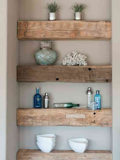 niche murale tag res en bois pour ranger et d corer. Black Bedroom Furniture Sets. Home Design Ideas