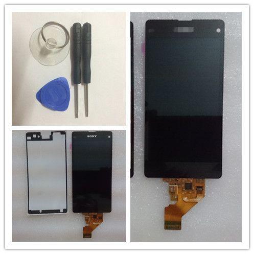 Alat + sticker gratis pengiriman untuk sony xperia z1 mini Z1 Compact D5503 M51W LCD Screen Display Dengan Layar Sentuh Digitizer