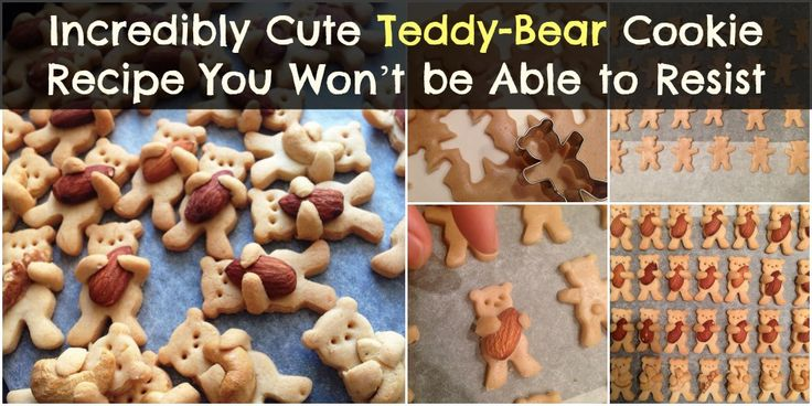 What do you get when you combine baking and teddy bears? The cutest little hugging teddy bear-cookies, that's what! We have never seen anything more charming and endearing than these golden brown teddies hugging almonds as if they were their own teddies. The recipe in itself if pretty simple to...