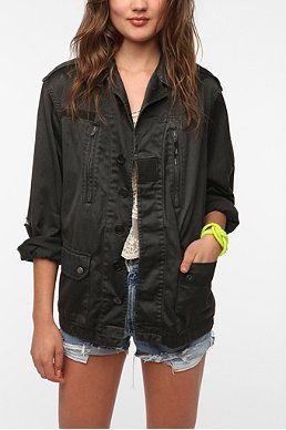 Urban Renewal Vintage French Combat Jacket $69 Urban Outfitters