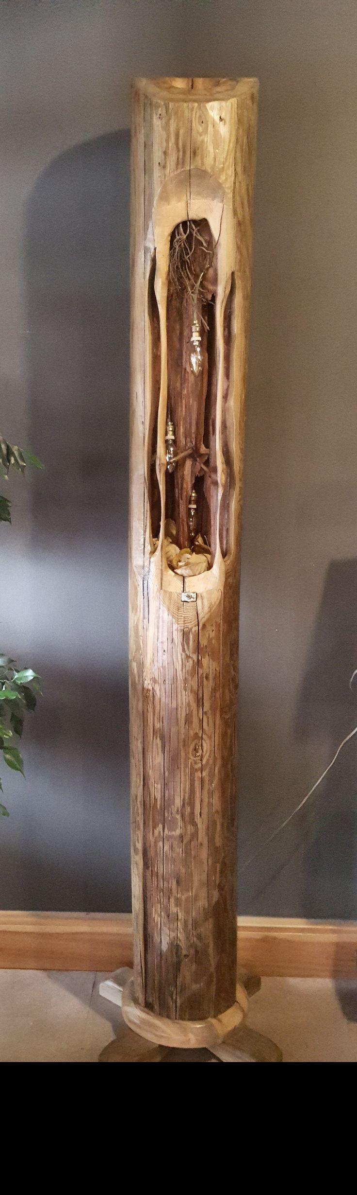Holzleuchte, Holzdesign, Holz Handwerk, Blitze, Kunstprojekte, Telefone,  Lampen