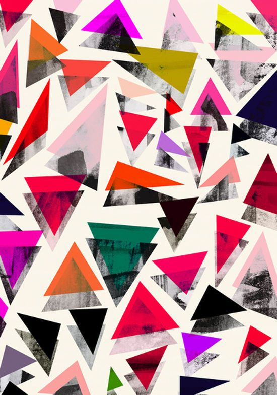 Triangle pattern by georgiana paraschiv via designlovefest. We love triangles over at CailaMade!