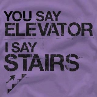 stairs stairs stairs :) Save the planet and use your calories instead