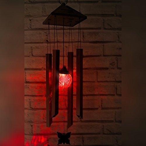 Solar Light Wind Chime LED Lamp Outdoor Decor Garden Ornament Colour Batteries