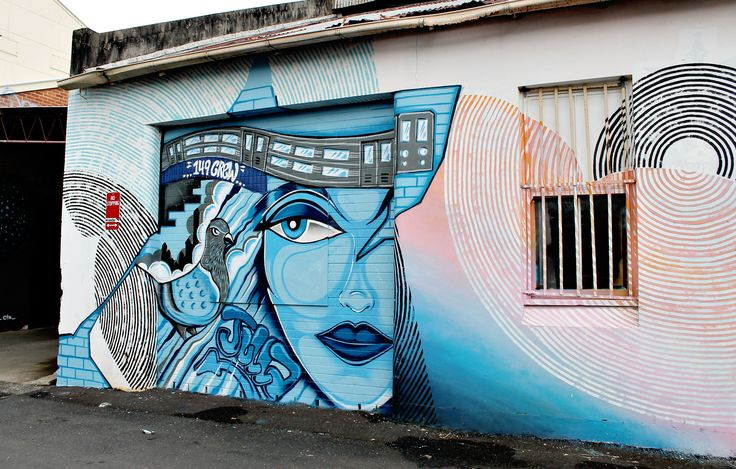Beautiful colours, patterns and illustrations. Graffiti art in an open air lane in Lismore (Australia) called The Back Alley Gallery.