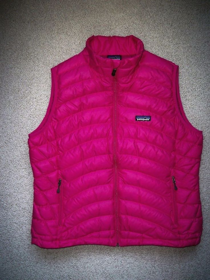 New PATAGONIA Down Sweater Vest 800 Fill Magenta Pink XL Extra Large #Patagonia
