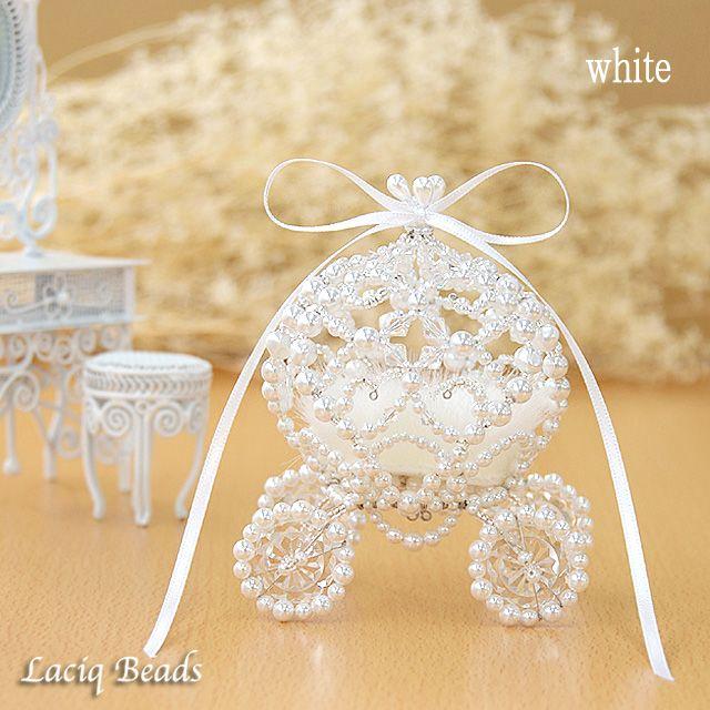 Принцесса мини-кольцо каретки обмен подушку кольцо бисер Золушка тыквы домашнее комплект невесты свадьба Pearl
