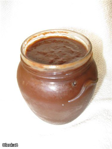 Шоколадно-яблочная паста