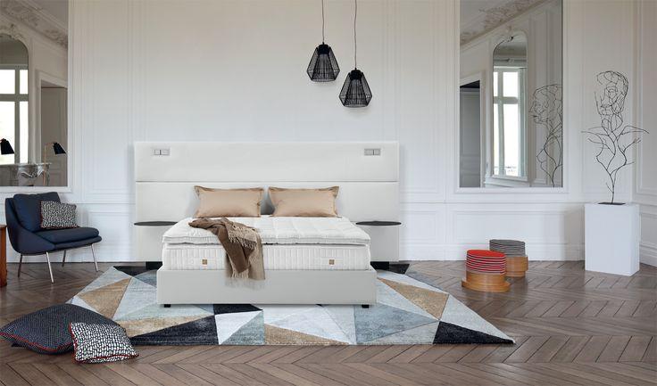 """Seit über 80 Jahren steht das Unternehmen #Treca_Interiors_Paris für Betten """"Made in France"""" – und für maßgeschneiderten Komfort. 💕 #Treca #Bett #Schlafkomfort #Wohndesign #Interior_Design #play_blanc"""