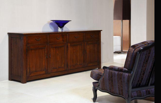 French Oak Windsor Sideboard - Adjustable shelves- French Polish Finish - 2, 3, or 4 Doors
