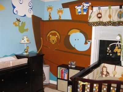 Noah's Ark Nursery: Our Noah's Ark nursery was inspired by two things. One was our faith in God and desire to share that with our new baby by creating a Noah's Ark themed