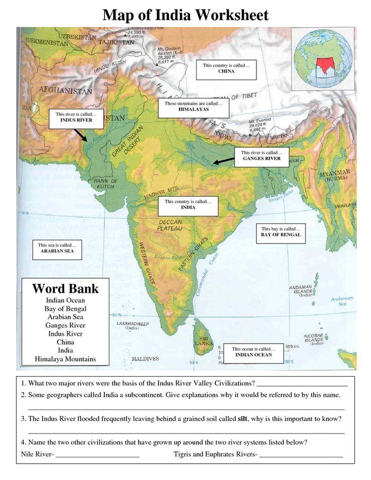 32 Ancient India Map Worksheet - Maps Database Source
