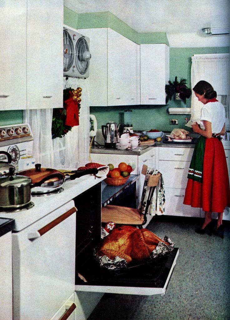 """Good Housekeeping""  December 1953  One turkey is not enough.."