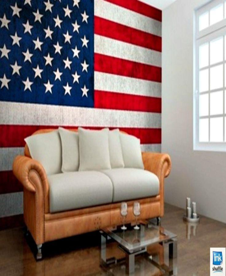 #Flag-themed wall mural