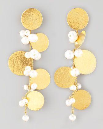 Pastilles Drop Earrings by Herve Van Der Straeten at Neiman Marcus.