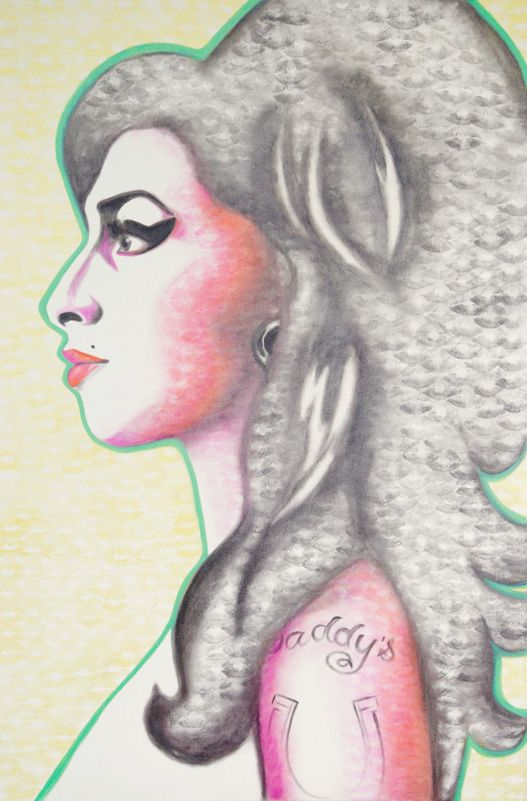 Kissed portrait of Amy Winehouse Gallery - Lipstick Lex