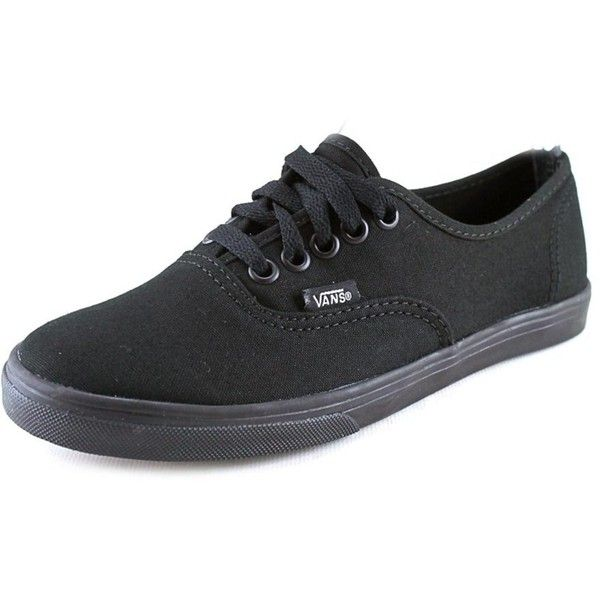 Vans Vans Authentic Lo Pro Women Round Toe Canvas Black Skate Shoe |... ($40) ❤ liked on Polyvore featuring shoes, sneakers, black, canvas shoes, vans trainers, canvas sneakers, low heel shoes and grip shoes