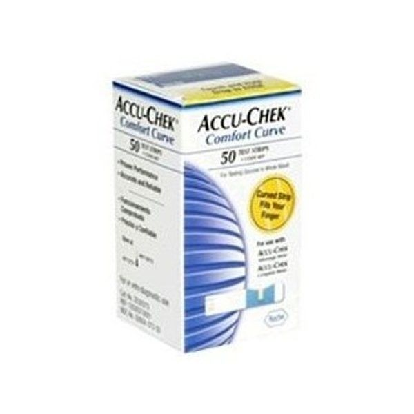 Accu-Chek Comfort Curve Test Strips. Box of 50: $38.99
