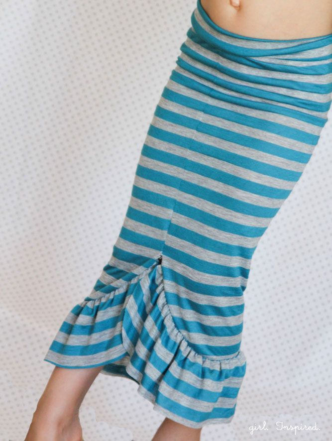 30-minute Mermaid Skirt Tutorial. I'm going to make this in adult size with extended frill.
